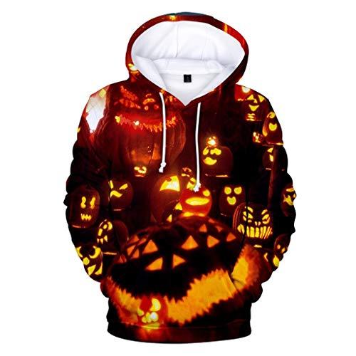Mempire Hoodies d'halloween pour Hommes 3D Imprimé Hoodie Pumpkin Lantern Sweatshirts Cadeau De Jour Traditionnel