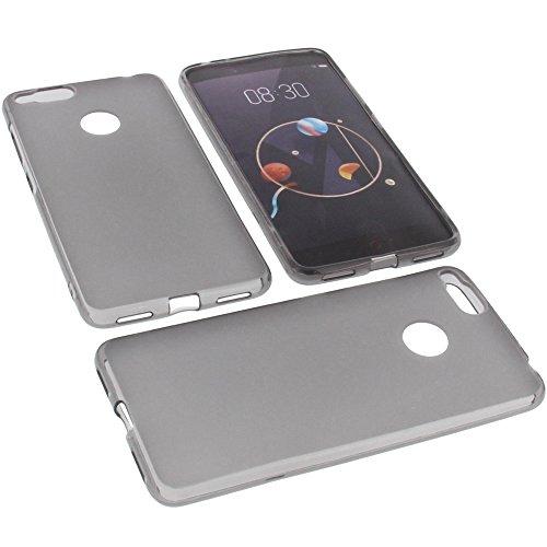foto-kontor Tasche für Archos Diamond Alpha Gummi TPU Schutz Handytasche grau