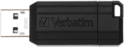 Verbatim 49071 PinStripe - Memoria USB de 128 GB (10 MB/s), color negro