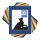Golden State Art, Pack of 20 Mixed Colors 11x14 Picture Mats Matting with White Core Bevel Cut for 8x10...