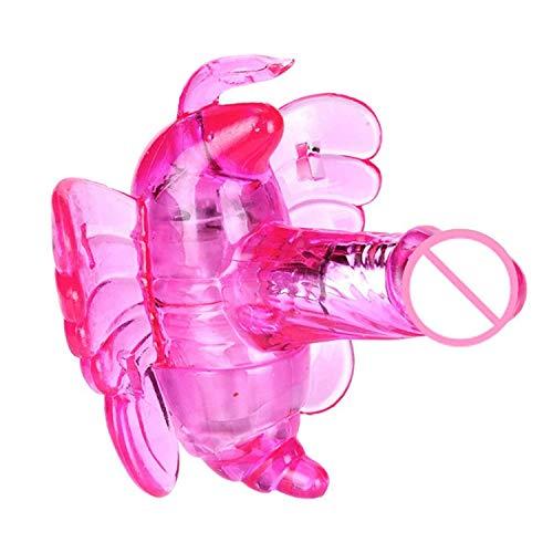 HFJKD goede trillingen vlinder Vi-brator riem op G-spot draadloze bediening vibrerend seksspeeltje volwassen producten, geschikt voor koppels, roze