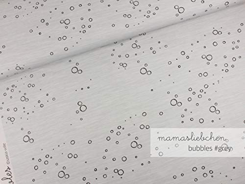 Mamasliebchen Jersey-Stoff Bubbles #Gray (0,5m) Blubberblasen Meer Meterware