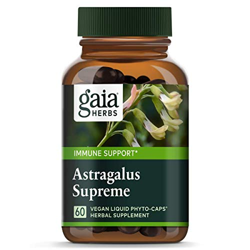 Gaia Herbs Astragalus Supreme, Vegan Liquid Capsules, 60 Count - Deep Immune Support and Stress Resistance, with Antioxidants