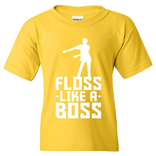 Floss Like A Boss - Back Pack Kid Flossin Dance Funny Emote Youth T Shirt - Small - Daisy