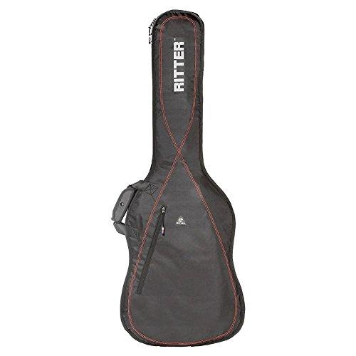 Ritter RGP2-B BAJO - Funda/estuche para guitarra electrica-bajo, con tejido repelente al agua, color negro