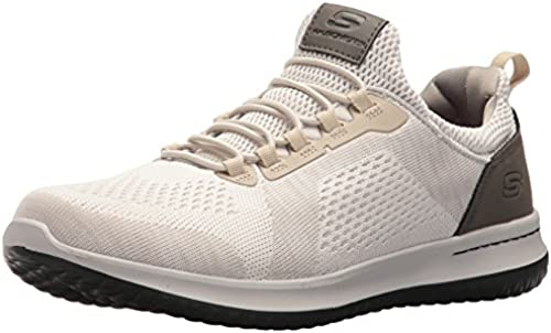 Skechers USA Men& 039;s Men& 039;s Relaxed Fit-Delson-Brewton Turnschuhe,13 M US,Taupe