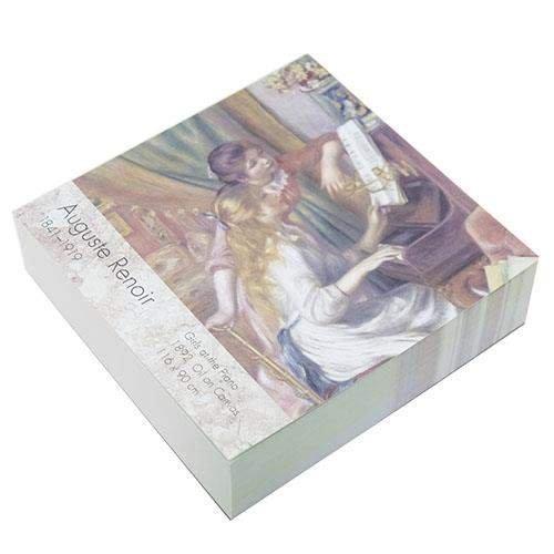 オーギュスト・ルノワール[メモ帳]印象派ブロックメモ/ピアノを弾く少女たち アート作家