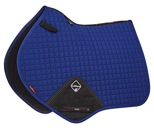 LeMieux ProSport Lustre Close Contact Tapis de Selle en Daim avec Boucle en D L Benetton Blue