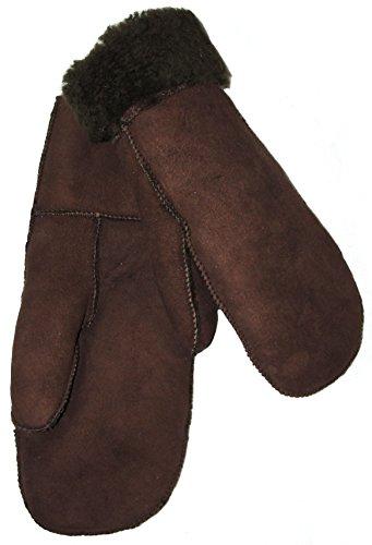 SAWA Kinder Handschuhe aus Lammfell braun