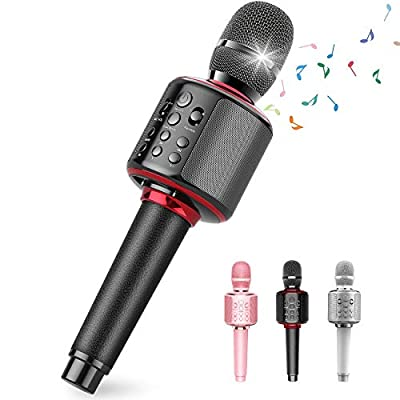 Wireless Bluetooth Karaoke Microphone with Dual...