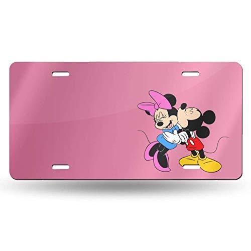 Suzanne Betty Aluminum License Plates - Mickey Love Minnie License Plate Tag Car Accessories 12 X 6 Inches