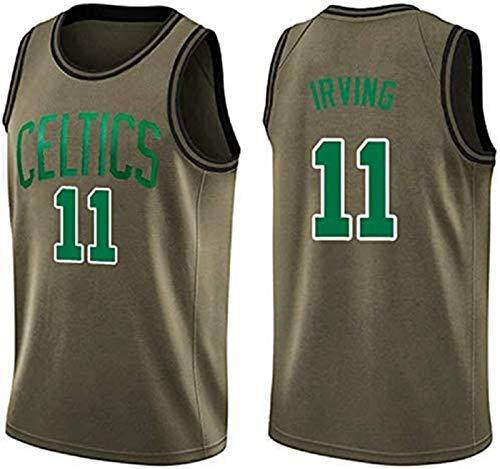 Camiseta de Baloncesto de los Hombres NBA Boston Celtics 11# Kyrie Irving Cómodo/liviano/Transpirable Malla Bordada Swing Swing Sworkman Sweatshirt,1,L