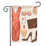 N/A Absätze und Kleider Accessoires Mode Cocktailkleid Lippenstift Ohrringe High Heels Lachs Braun Pfirsich Einseitig 12 X 18 Zoll