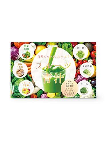 『DearEat(ダイエット) フルーツ 青汁 大麦若葉 ケール 明日葉 3種配合 プラセンタ ヒアルロン酸 セラミド ペプチド 配合で美容もサポート「 国産 54種の野菜 23種のフルーツで美味しいから長続き」30包 (1個単品)』のトップ画像