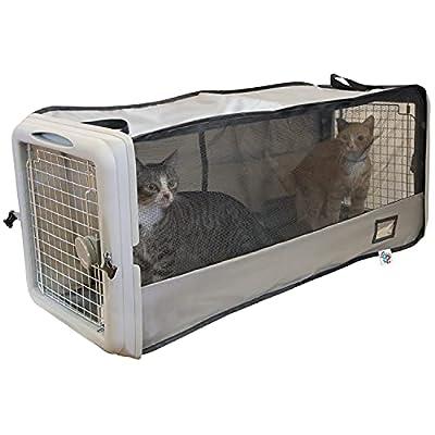 SportPet Designs Car Seat Pet Crate, Car Kennel, Pet Tube Kennel, Pop Open Crate, Gray (CM-10004-CS01)