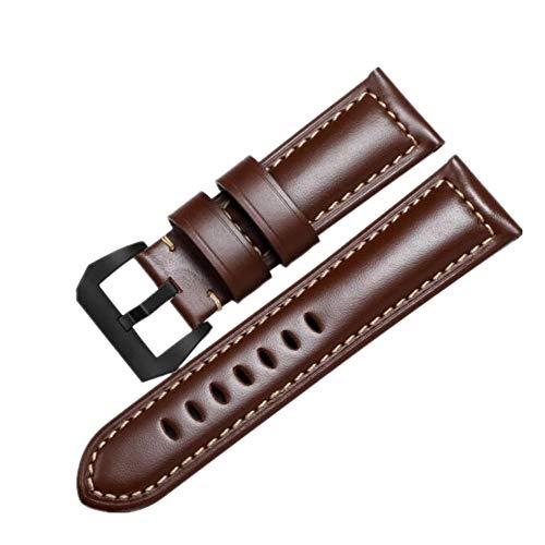 FOUUA Cinturino per orologio PANERAI Cinturino 22mm 24mm 26mm Cinturino per orologio militare in pelle vintage Cinturino per cinturino per uomo PANERAI LUMINOR 44