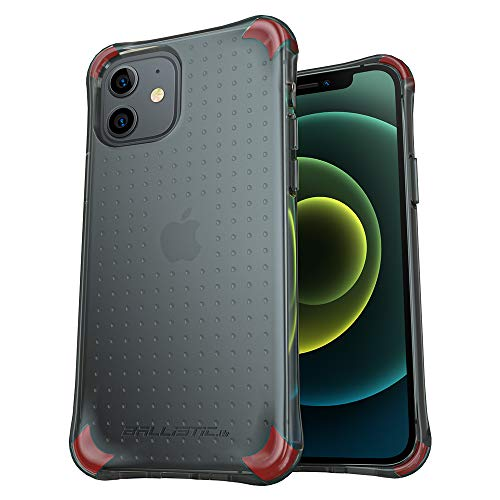 Ballistic Shockproof Drop Protection iPhone 12/12 Pro Case, Military Grade Protective Scratch Resistant case with 4 Shockproof Air Space Cushion Case for iPhone 12/12 Pro 6.1'(Translucent Black)