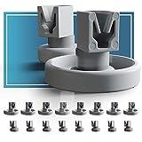 Ruedas lavavajillas de Plemont® [cesta inferior/ cesto superior] ruedas de lavavajillas para muchos comunes lavavajillas de Bosch Zanussi Miele etcétera - ruedas bandeja lavavajillas