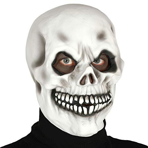 Guirca - Máscara calavera integral de látex, color blanco, 2391