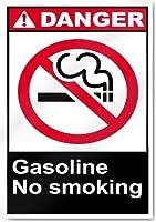 ヴィンテージスタイルの金属製サイン、屋外の装飾-ガソリン禁煙危険サイン、面白い警告サイン簡単な取り付けのための家の事前に開けられた穴のための金属製の安全標識