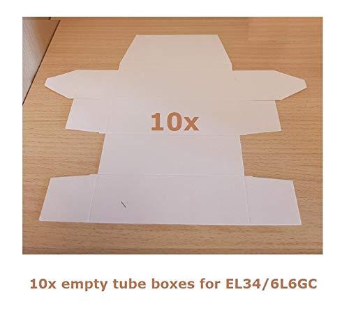 10 x weiße Ventilbox Typ El34/6L6GC
