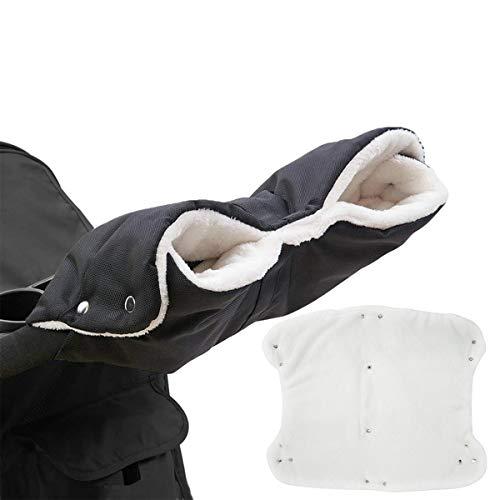 Kinderwagen Handschuhe, Baby Kinderwagen Handwärmer Buggy Handschuhe Handmuff Universalgröße - Schwarz