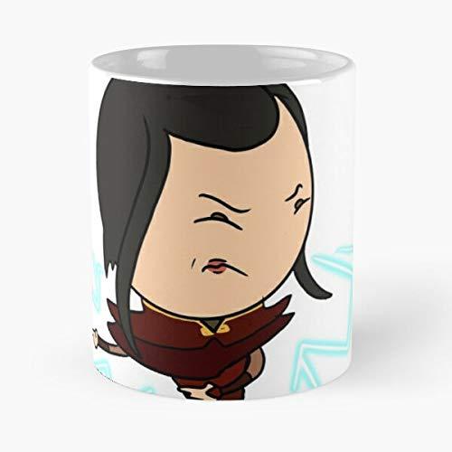 Bender Lightning Azula Art Avatar Fan The Airbender Last Best Mug holds hand 11oz made from White marble ceramic