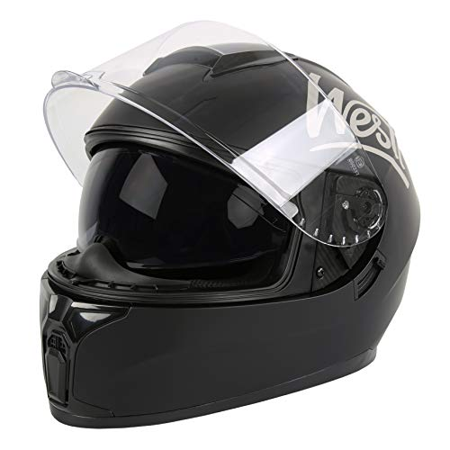 WESTT Storm X Motorrad-Integralhelm I Motorradhelm schwarz-matt I innovativer Smart-Helm I stoßfester Motorradhelm I Integralhelm Herren & Damen I Mopedhelm I ECE Zertifiziert (XL- 61cm, Schwarz)