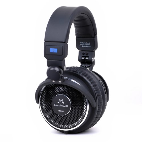 SoundMAGIC HP200 Open Back HiFi Headphones with Replaceable Cable (Black)