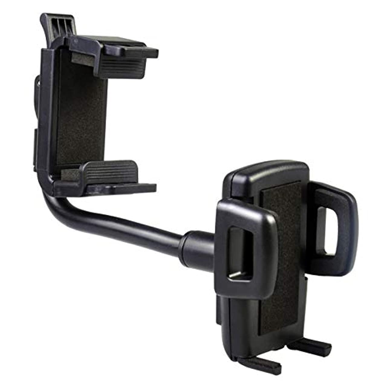 夫婦返済オープナーJicorzo - 車の自動車のバックミラーマウント携帯電話ホルダーブラケットは、iPhoneの携帯電話のGPSのためにサムスンのためにスタンド360度のホルダー