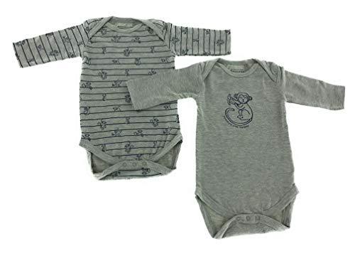 jbc Baby Bio Baumwolle Body Pyjama Strampler Kleinkind 0-24 Monate 2er Set AFFE (0-2 Monate - Größe 50-56)