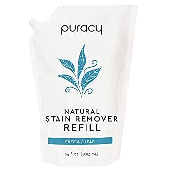 Puracy Natural Laundry Stain Remover Refill 64 Fl Oz Enzyme-Based Spot & Odor Cleaner Free & Clear