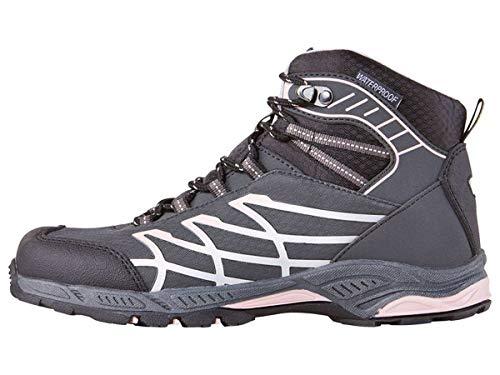 Outdoorschuhe Trekkingschuhe Stiefel Wasserdicht Mädchen mit reflektierenden Elementen profilierte Laufsohle (34, Anthrazit Rosa)