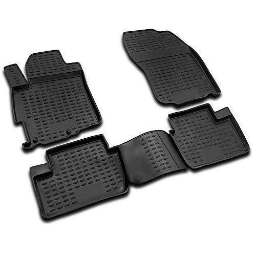 Complete Set Custom Fit Liner | All Weather Performance 3D Molded Black Rubber Floor Mat | FitsMitsubishi Lancer X DE ES GTS EVO 2008-2017