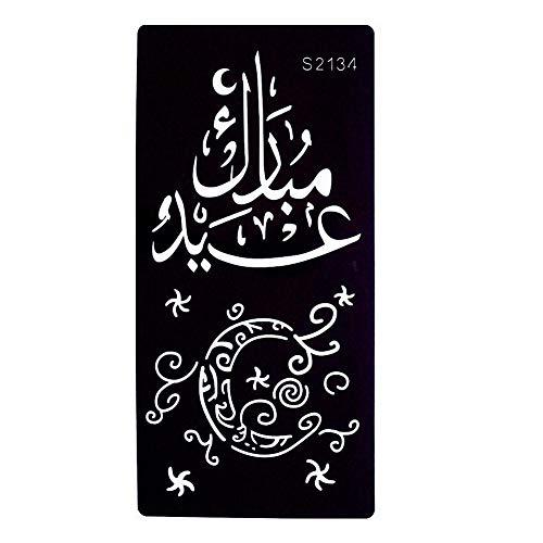 JUSTFOX - Henna Tattoo Schablone Airbrush Stencil Arabische Schrift Mond Kina Dövme
