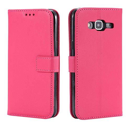 DENDICO Schutzhülle für Galaxy A3, ultradünn, Schutzhülle aus Leder für Samsung Galaxy A3, Brieftasche mit Standfunktion und Kreditkartenfächern