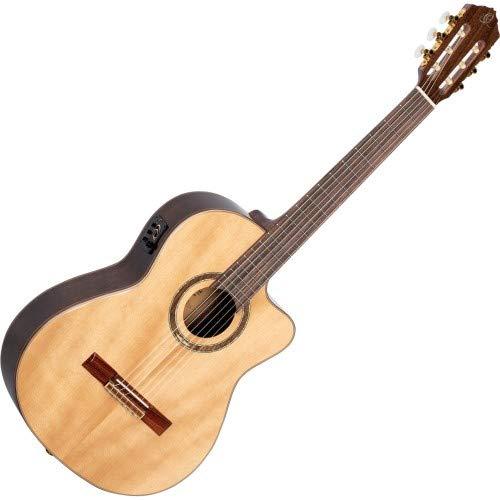 ORTEGA Performer Series Guitarra acústica-eléctrica de cuerdas de nailon 4/4 cuello medio - + bolsa (RCE158MN)