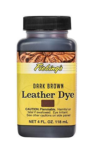 Fiebing's Lederfarbe auf Alkoholbasis, permanente Lederfarbe, 118 ml, Dunkelbraun