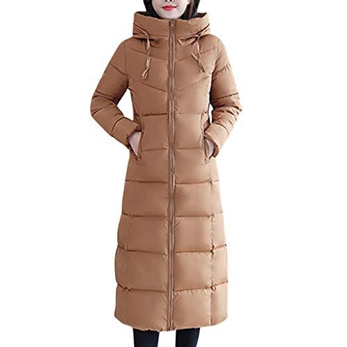 NUSGEAR Daunenjacke Damen Mantel Winter Jacke Ultraleicht Steppjacke Parka Outwear Daunenmantel Coat Warme Steppmantel Langes, schmales Baumwolljäckchen mit Kapuze