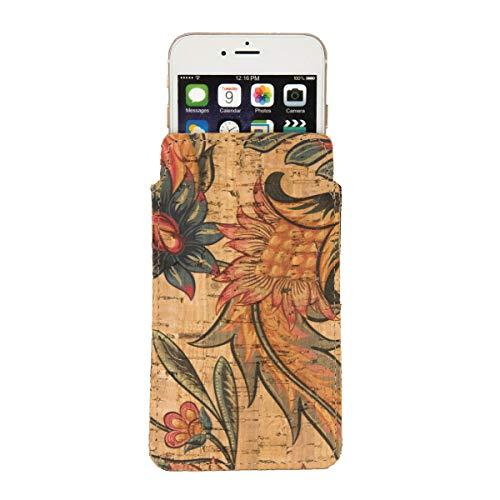 CorkLane Funda para iPhone 6 Plus, 6S Plus, 7 Plus, 8 Plus, calcetines de corcho, flores