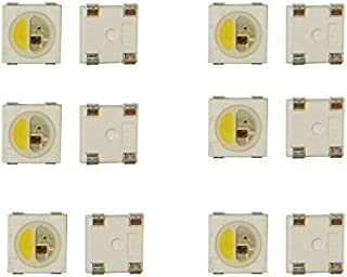 Nagulagu 100pcs SK6812 RGBW RGB White 5050 SMD Individually Addressable Digital LED Chip Pixels DC 5V