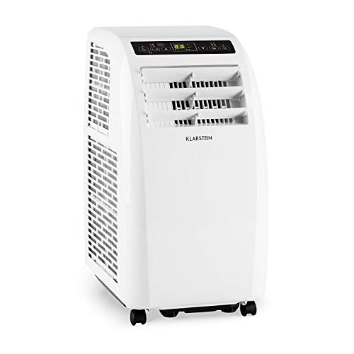 KLARSTEIN Metrobreeze Rom - Climatiseur Mobile, Ventilateur, Température Entre 18 et 30°C, Minuterie, Puissance 10000 BTU, Trois Vitesses, Classe énergétique A+ - Blanc
