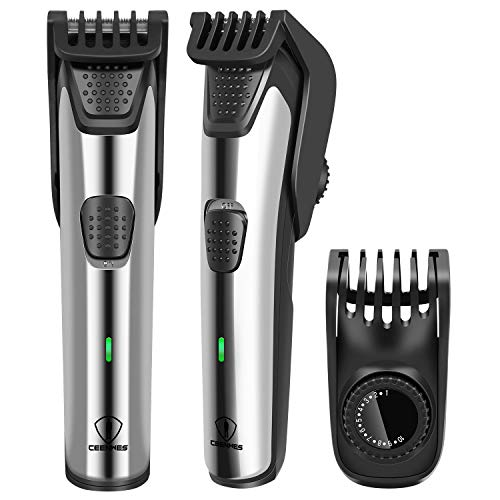 Ceenwes Beard Trimmer for Men Waterproof Cordless Hair Clippers with 19 Built-in Precise Lengths Adjustable Hair Cutting Kit Fast Charge &Long-Lasting Use for Men