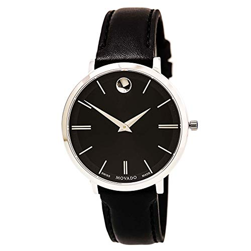 Movado Ultra Slim Black Sunray Dial Ladies Watch 0607090
