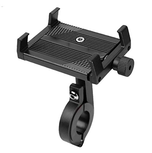 IQQI Phone Mount Holder for Bike & Motorcycle, Rotatable Universal Aluminum Alloy Phone Holder, for Most Smartphone, Best Bike Accessories for Adult Bike,D Black