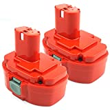 Advtronics 2 Pack 18V 3.5Ah 1822 Replacement Battery Compatible with Makita 1823 1833 1834 1835 1835F 192828-1 192829-9 193061-8 193102-0 193140-2 193159-1 193783-0, Ni-MH