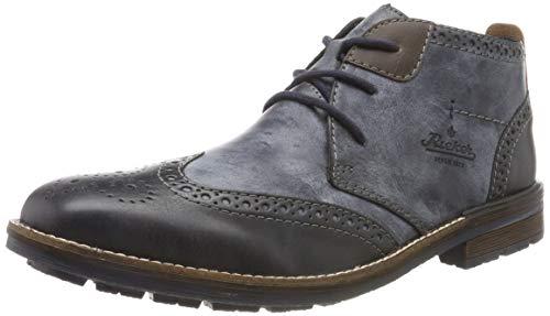 Rieker Herren B1343 Klassische Stiefel, Blau (Ozean/Ozean/Kastanie 14), 45 EU