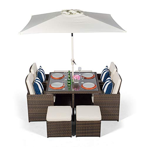 Set Giardino In Rattan.Rattan Wicker Furniture The Best Amazon Price In Savemoney Es