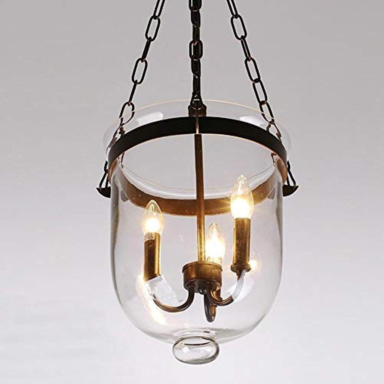 Vintage American Country Loft Eisen Kronleuchter Glas Licht Cube Mittelmeer Bar Lager Licht E14 Lampe