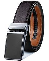 Mens Belt,Bulliant Designer Click Genuine Leather Ratchet Belt For Men, Size-Customized